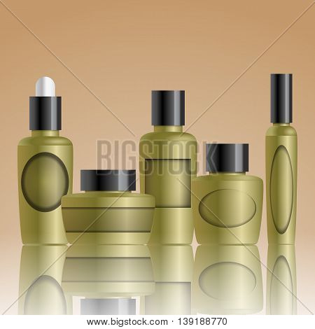 Realistic  Bottles For Essential Oil And Tube For Cream, Ointment, Toothpaste, Lotion,  Shampoo, Oil
