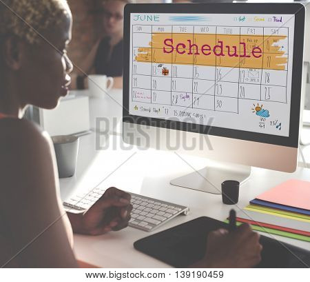 Schedule Agenda Planner Reminder Calendar To Do Concept