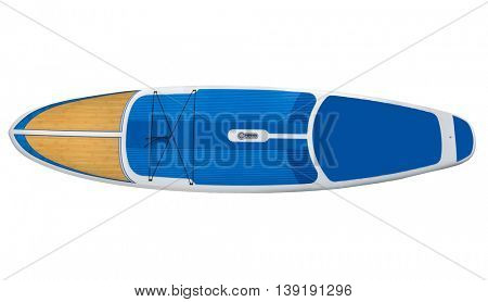 Paddle board,SUP, Surfboard isolated on white