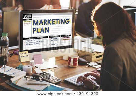 Marketing Plan Strategy Branding Advertising Commercial Concept