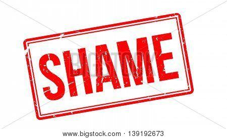 Shame Rubber Stamp