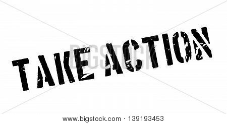 Take Action Rubber Stamp