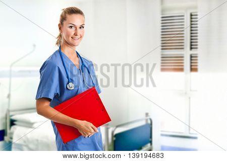 Young nurse portrait