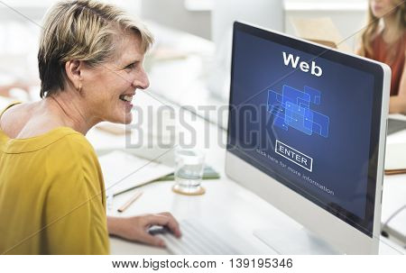 Web Website WWW Browser Internet Networking Concept