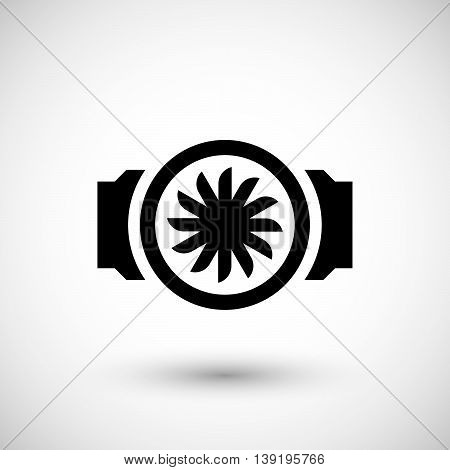 Ventilation element icon isolated on grey. Vector illustration