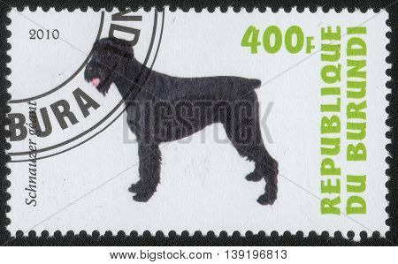 Republic of Burundi, - CIRCA 2010: A stamp printed by Burundi shows the a series of images