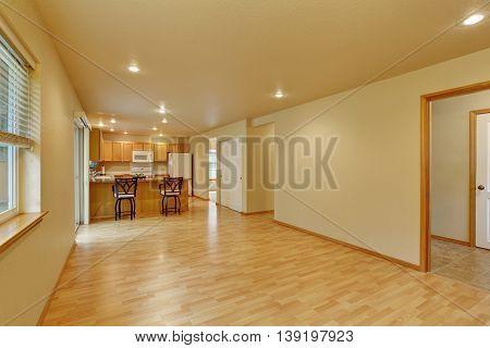 Spacious Empty Room With Hardwood Floor