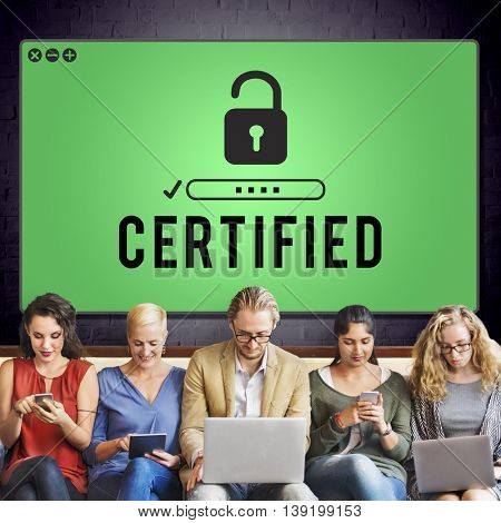 Certified Approved Confirmation Guarantee Concept