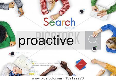 Proactive Motivated Action Control Enterprising Concept