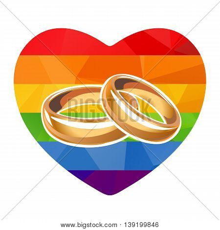 Rainbow Heart And Rings