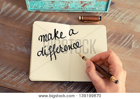 Handwritten Text Make A Difference