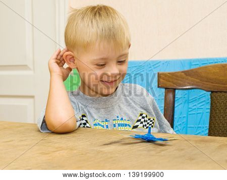 Boy Having Fun Playing Yuloy