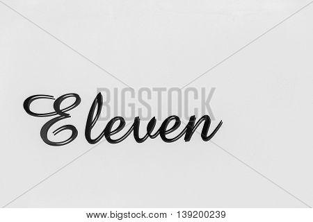 Number Eleven  Sign