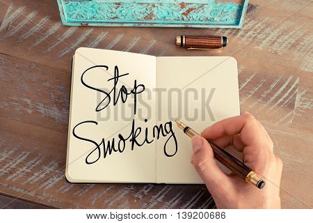 Handwritten Text Stop Smoking