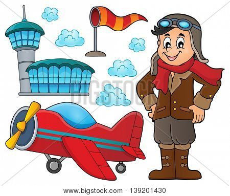 Aviation thematic set 2 - eps10 vector illustration.