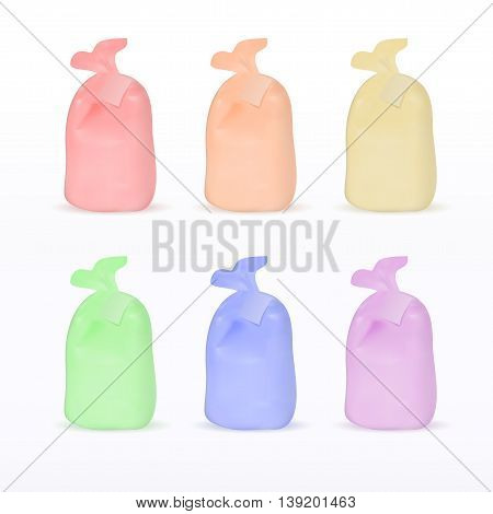 Medical waste multicolor package set realistic vector eps10