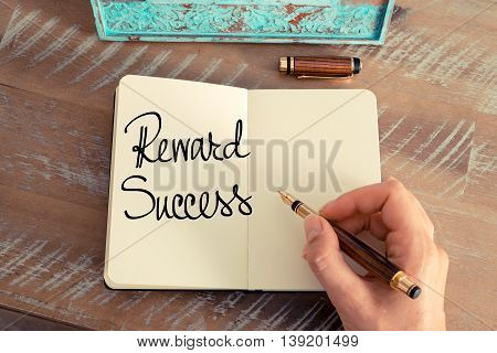 Handwritten Text Reward Success