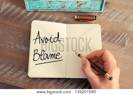 Handwritten Text Avoid Blame