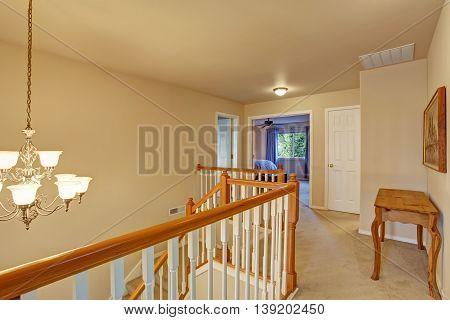 Hallway Interior  With Carpet Floor