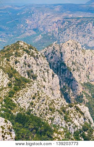 Beautiful Landscape Of The Gorges Du Verdon In South-eastern France. Provence-Alpes-Cote d'Azur.