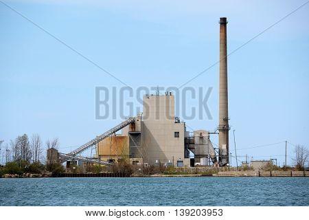 Harbor Beach Power Plant, Lake Huron, Michigan, USA