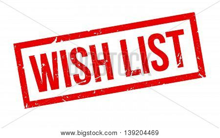 Wish List Rubber Stamp