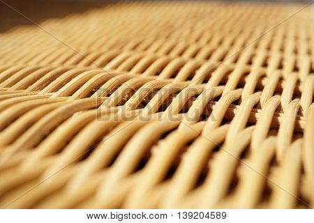 Abstract background of a wicker basket as a symbol of hand made wickerwork