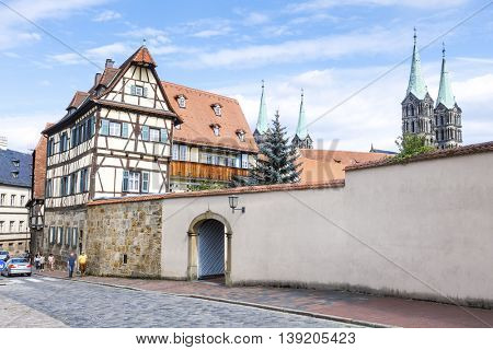 An image of a nice old house in Bamberg Bavaria Germany