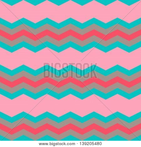 Four Pastel Colors Zig Zag Seamless Pattern