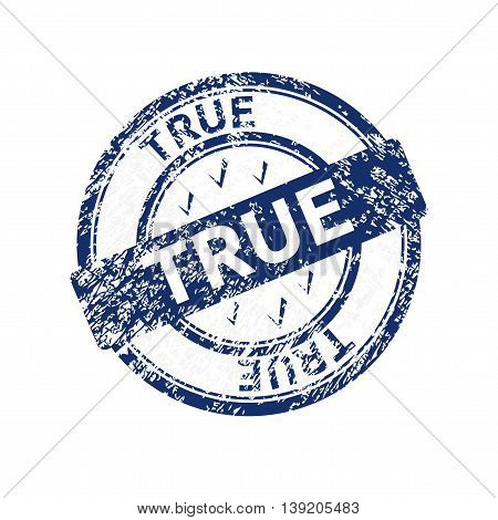 true blue grunge round vintage stamp eps10 vector