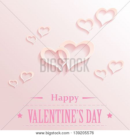 Valentine backgrond with hearts. Vector EPS10 illustration