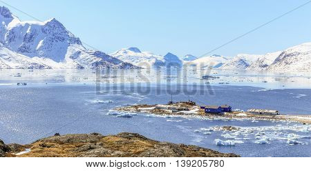 Qoornoq Former Fishermen Village, Nowdays Summer Residence In The Middle Of Nuuk Fjord