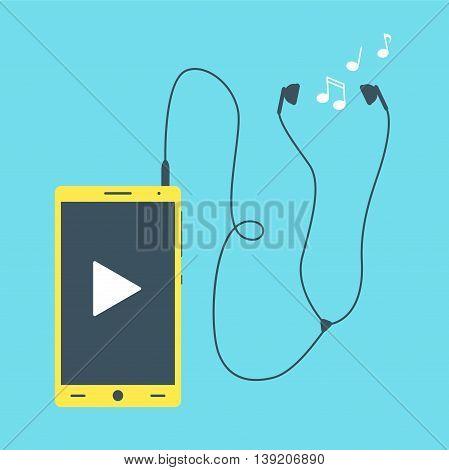 Mobile Phone With Earphones