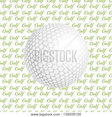 Vector golf ball. Golf ball. Vector illustration a traditional white golf ball. Golf logo. Golf background. Realistic rendition of golf ball texture. Golf texture background