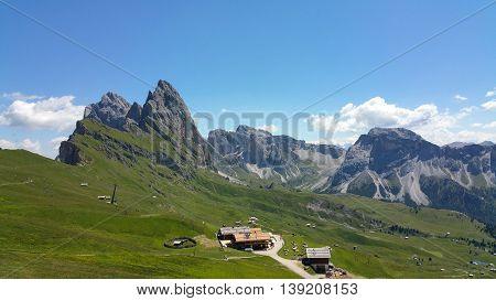 Vista del Seceda - Trentino Alto Adige