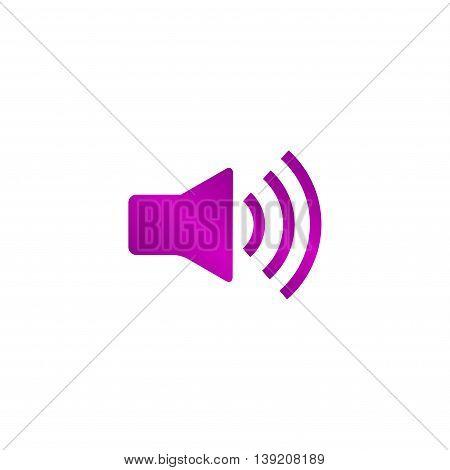 Speaker Icon. Flat Design Style.