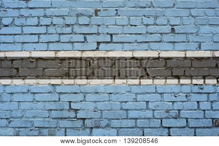 Flag of Botswana painted on brick wall background texture