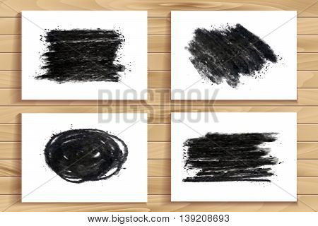 Hand Drawn Charcoal Chalk Texture Set