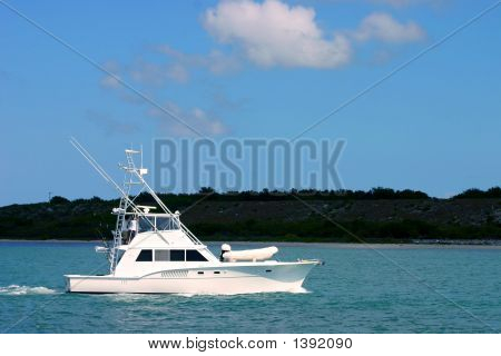 Sportfisherman Boat On Water