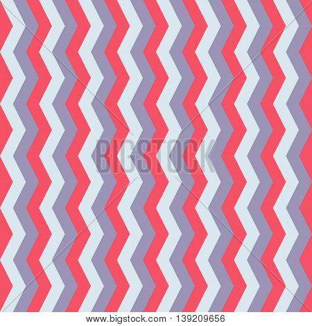 Abstract zig zag chevron seamless pattern red blue white background