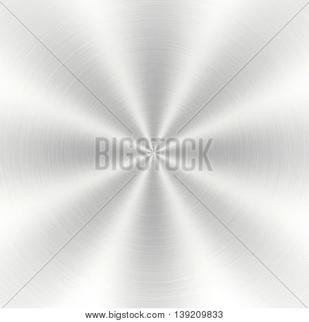polished metal plate with rays pattern