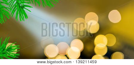Christmas background with christmas light by night