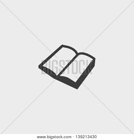 Book icon isolated in a flat design in black color. Vector illustration eps10