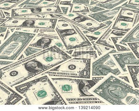 One Dollars Background.
