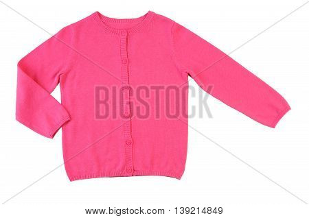 Baby knitted sweater (blouse) insulated on white background