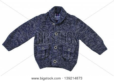 Children's cardigan melange isolated on white background