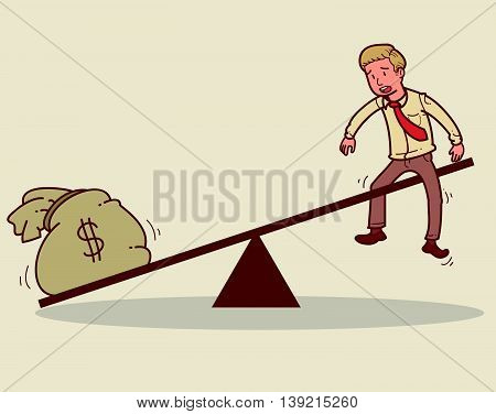 Vector illustration of a value of an employee