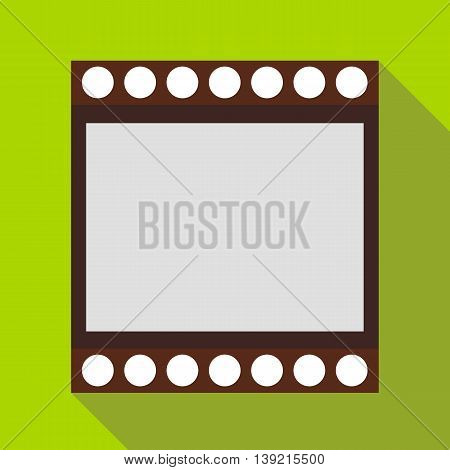 Film strip icon in flat style on a green background