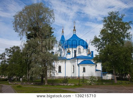 Republic of Karelia. Sortavala. Saint Nikolay's church
