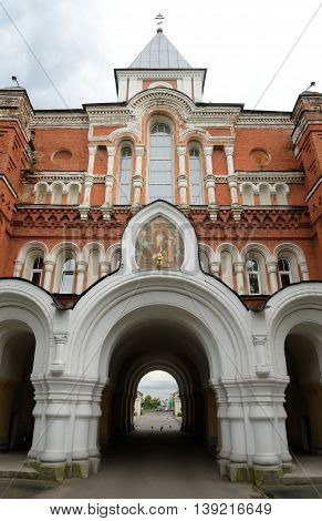 Holy Trinity St. Sergius Maritime Men Monastery in St.Petersburg Russia.